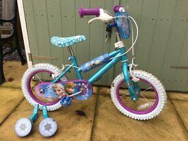 """Girls 12"""" frozen bike"""