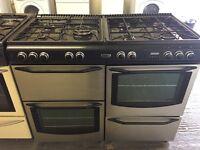 New home dual fuel range cooker