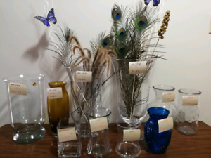 Vases in assortment. $8 and less....
