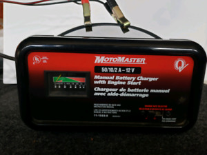 MotoMaster Battery Charger - With Engine Start - Like New