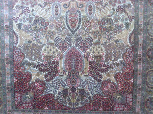 Very Fine Hereke Hand-Knotted Silk Rug - 800-850 kpsi North Shore Greater Vancouver Area image 10