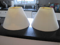 ***MATCHING SET WHITE LAMP SHADES***