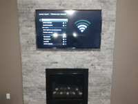 Tv wall mount installation only $70 Same day service