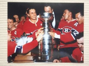 Jean Beliveau Montreal Canadiens Stanley Cup 10x8 Unsigned Photo
