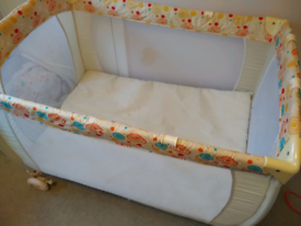 Babystart Deluxe Travel Cot, Bassinet & Mattress