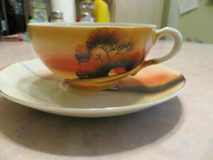JAPANESE DESIGN CUP AND SAUCER London Ontario image 1