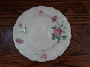 VINTAGE JB JOHNSON BROS OLD CHELSEA BREAD PLATE PINK ROSES