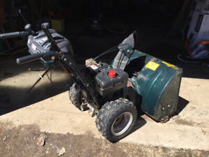 Yard works snowblower