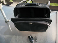 """Laptop case (Dell) for 15-17"""" with wireless mouse (Logitech),"""