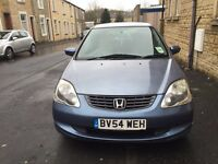 2004 Honda Civic 1.4 5 Door Air Con Full Service History Superb Drive Mot Ready To Go