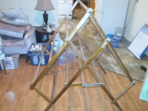 Large wooden laundry dryer