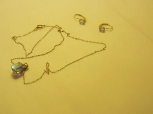 Topaz necklace with matching earrings