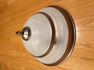Brushed nickle flush mount light