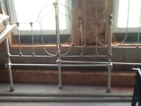 Old cast iron bed