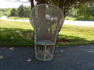 Wicker Fanback Peacock Rattan Chair