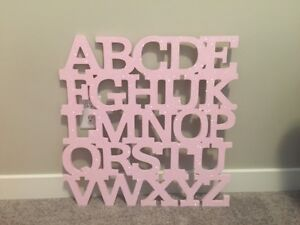 Two Pink Sparkle Wood Decor