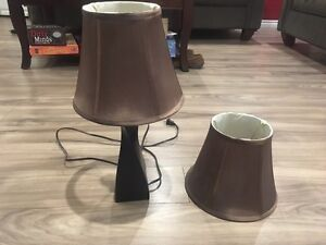 Lamp and two shades
