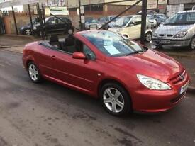 2005/05 Peugeot 307 CC 2.0 16v Coupe Convertible ONLY 77754 Miles 2 Lady Owners