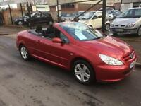 2005/05 Peugeot 307 CC 2.0 16v Coupe Convertible ONLY 77754K SAVE £200 NOW £2395