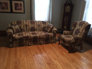 free couch and wing chair