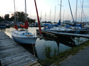 26' Fiberglass Hard Chined Yawl Sailboat.