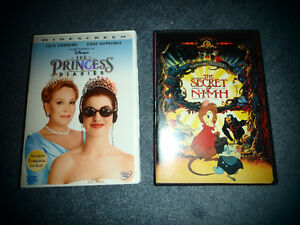 Secret of NIMH and Princess Diaries DVDs