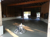 PROFESSIONAL 2 MAN CONCRETE FLOOR POURING & FINISHING TEAM.