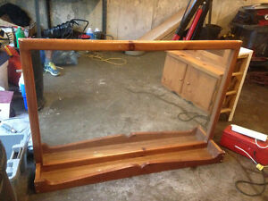 Large mirror with tray / board