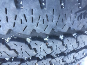 Set of 4 Firestone Transforce AT tires for sale.