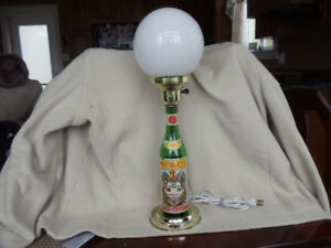 Martini & Rossi Vino Vermouth Bottle Electric Lamp with Globe