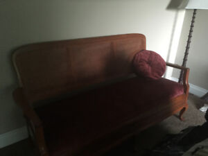 Antique Cane love seat and Chairs - mint condition