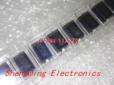 100pcs Us1m Uf4007 1a1000v Sma Rectifier Diode Fast Recovery Diode Do-214ac