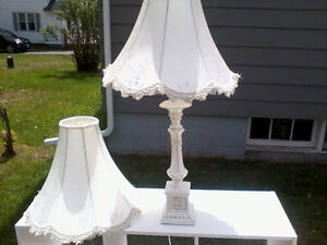 Only one Lamp Base  but two shades