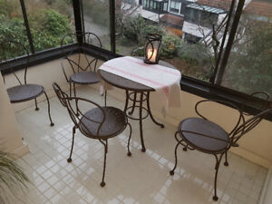 SOLD - Wrought Iron Sunroom / Patio Set