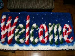 Handmade Christmas Welcome Rug