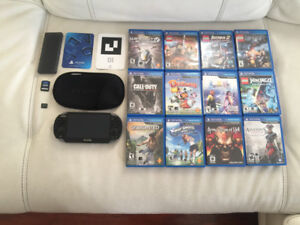 I sell psvita 3.65 in excellent condition with 13 games + 4gb me