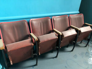 Antique Theatre chairs - VERY COOL!