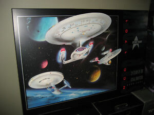 STAR TREK 25th Anniversary LED THICK Laminated Wall Hanging