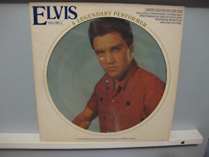 3 Elvis Vinyl LPs  One is a Picture Record