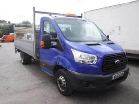 FORD TRANSIT 350 EXT LWB DROPSIDE TRUCK WITH TAIL LIFT Blue Manual Diesel, 2015