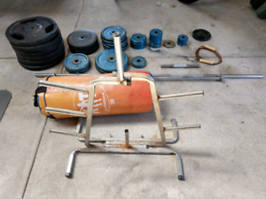 Oly+Std Weight Plates $2.5-$3/kg, Tree, Barbells, Punching Bag