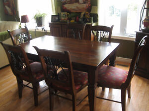 Ashley Dining set with 6 chairs~includes Sideboard