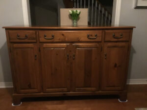 Large solid pine buffet / armoir