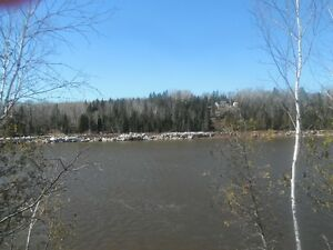 Waterfront properties on the Tobique River