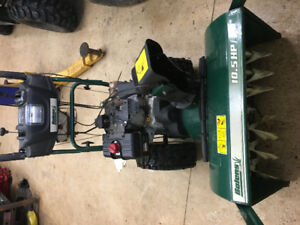 "Snowblower 10.5 HP and 30"" cut"