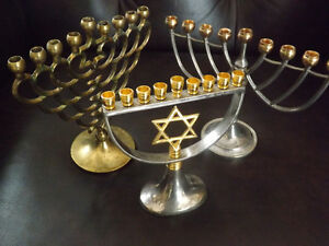 COLLECTION: MENORAH JUDAICA CANDLE HOLDERS PORTE-BOUGIES.  Wow f