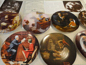Set of 10 Knowles Ltd. Edition Norman Rockwell Collector Plates Kitchener / Waterloo Kitchener Area image 3