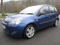 06/56 FORD FIESTA 1.4 TDCI ZETEC 5DR HATCH IN MET BLUE WITH ONLY 57,000 MILES