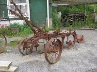 Antique Farm Implements and Antique Saws