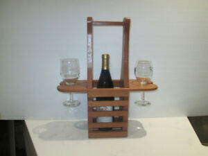 Romantic Wine and Glass Holder Caddie